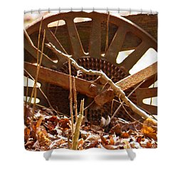 Shower Curtain featuring the photograph The Wheel Of Planting by Nick Kirby