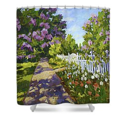 The White Fence Shower Curtain