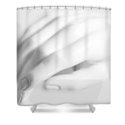 The White Hand Shower Curtain by Tony Rubino