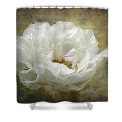 The White Peony Shower Curtain