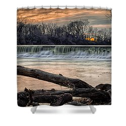 The White River Shower Curtain