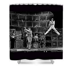 The Who - A Pencil Study - Designed By Doc Braham Shower Curtain