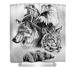 The Wildlife Collection 1 Shower Curtain by Andrew Read