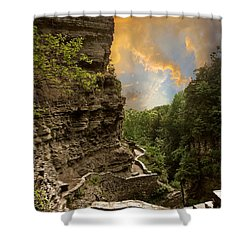 The Winding Trail Shower Curtain by Jessica Jenney