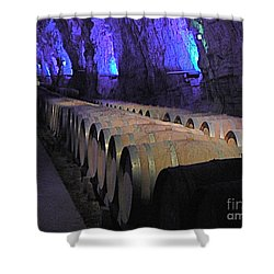 The Wine Cave Shower Curtain by France  Art