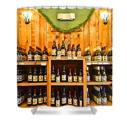 The Wine Cellar Shower Curtain by Frozen in Time Fine Art Photography