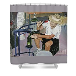 The Wine Maker Shower Curtain