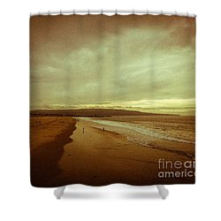 The Winter Pacific Shower Curtain by Fei A