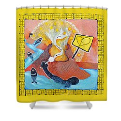The Wish Of A Drowning Man Shower Curtain