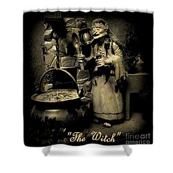 The Witch Shower Curtain by John Malone