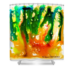 Shower Curtain featuring the painting The Witches' Dance by Joan Hartenstein