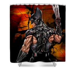 The Wolverine Shower Curtain by Pete Tapang
