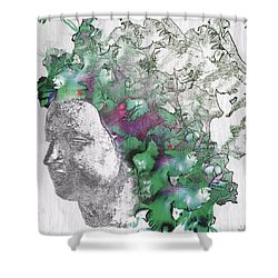The Woman From Yes Shower Curtain by Nola Lee Kelsey