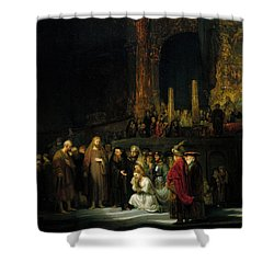 The Woman Taken In Adultery Painting By Rembrandt