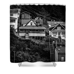The Wooden Path Shower Curtain