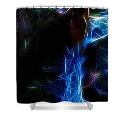 The Woods Are Lovely Dark And Deep Shower Curtain