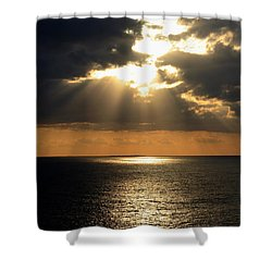 Key West Sunset The Word Shower Curtain