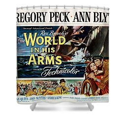 The World In His Arms 1952 Shower Curtain by Mountain Dreams
