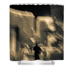Shower Curtain featuring the photograph The World Is My Oyster by Alex Lapidus