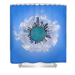 The World Of Miami Shower Curtain by Carsten Reisinger
