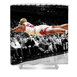 The Worm Dennis Rodman Shower Curtain