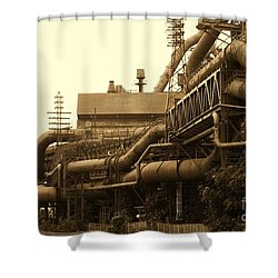 The Worm Passageways Shower Curtain