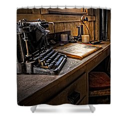 The Writer's Desk Shower Curtain