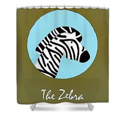 The Zebra Cute Portrait Shower Curtain by Florian Rodarte