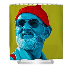 The Zissou- Background Edit Shower Curtain by Ellen Patton