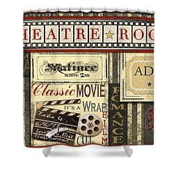 Theatre Room Shower Curtain by Jean Plout