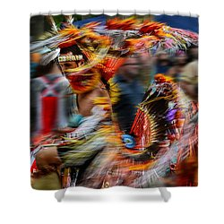 Their Spirit Is Among Us - Nanticoke Powwow Delaware Shower Curtain