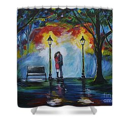 Then He Kissed Me Shower Curtain by Leslie Allen