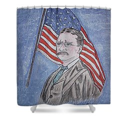 Theodore Roosevelt Shower Curtain by Kathy Marrs Chandler