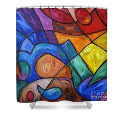 Shower Curtain featuring the painting There Are No Words  by Dianne  Connolly