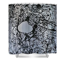 Shower Curtain featuring the painting There Is A Hole In The Bucket by Michael Cross