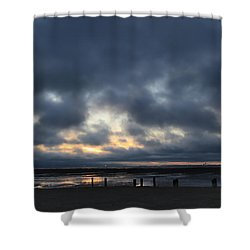 There's A Freedom In The Night Shower Curtain by Laurie Search