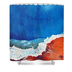 Thermal Shift Shower Curtain by Abbie Groves
