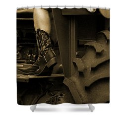These Boots 1 Sepia Shower Curtain