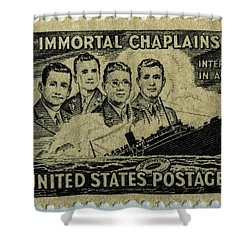 These Immortal Chaplains Shower Curtain