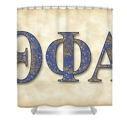 Theta Phi Alpha - Parchment Shower Curtain by Stephen Younts