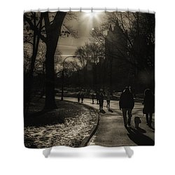 They Come To Central Park Shower Curtain by Madeline Ellis
