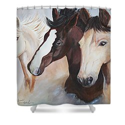They Run Wild Shower Curtain by Donna Steward