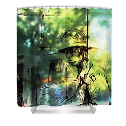 They Stand For Freedom Shower Curtain by Natalie Ortiz