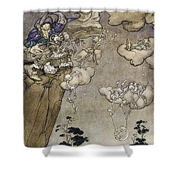 They Were Ruled By An Old Squaw Spirit Shower Curtain by Arthur Rackham