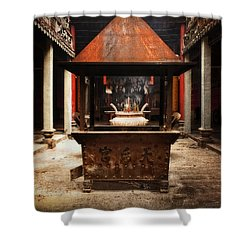 Shower Curtain featuring the photograph Thien Hau Temple  by Lucinda Walter