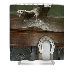 Shower Curtain featuring the photograph Thing Above The Door by Newel Hunter