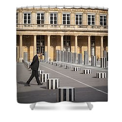 Thinking - At Palais Royal Shower Curtain by Brian Jannsen