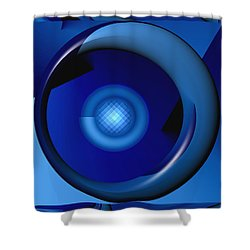 Shower Curtain featuring the digital art Thinking Of Blue by Wendy J St Christopher