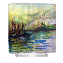 Shower Curtain featuring the painting Thinking Of Sargent by Allison Ashton