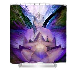 Third Eye Chakra Goddess Shower Curtain
